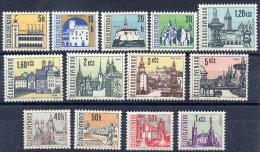 CZECHOSLOVAKIA 1965-66 Definitive Set Of 13 Values MNH / **.  Michel 1574-82, 1657-60 - Tchécoslovaquie