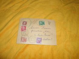 ENVELOPPE UNIQUEMENT DE 1947. / CACHETS LA CHAPELLE DES MARAIS POUR LA ROCHE BERNARD + TIMBRES DONT TAXES 30C. 50C. 3F.. - Postmark Collection (Covers)