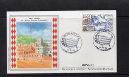 Monaco 1989 Fdc 20èmecongrès De L'UPU 2500 - FDC