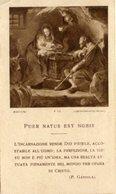 Santino Antico PUER NATUS EST NOBIS (Batoni) F19 Lega Eucaristica 1937 - P90 - Religione & Esoterismo