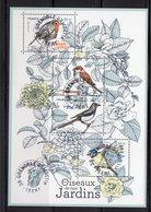 France 2018.Bloc Oiseaux De Nos Jardins.Cachet Rond Gomme D'orine. - Sheetlets