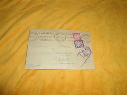 ENVELOPPE UNIQUEMENT DE 1938 / CACHETS RENNES GARE POUR NANTES + TIMBRES TAXES 30C. 50C. 1F... - Postmark Collection (Covers)