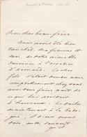 """Lettre De L'amiral Baron De Mackau ( 1788 - 1855) à Son """"cher Beau-frère"""". ( 4p. ) - Autographes"""