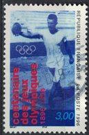 France 1996 Oblitéré Rond Used Centenaire Des Jeux Olympiques Lancer Du Disque Y&T 3016 SU - France