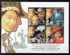TUVALU  Timbres Neufs ** De 2002 ( Ref 6128  )  Famille Royale - Tuvalu