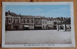 79 : Chef-Boutonne - Place Cail - Partiellement Colorisée - (n°14391) - Autres Communes