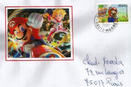 FRANCE. Super Mario, Sur Lettre - Cinéma