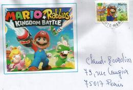 FRANCE. Super Mario, Sur Lettre - Bandes Dessinées