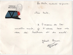 """MILITARIA. LA FLECHE (72) BRISTOL. ECOLE MILITAIRE """" CORNICHE BRUTIONNE """" - Vieux Papiers"""