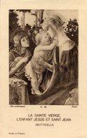 Santino Antico SAINTE VIERGE, ENFANT JÉSUS ET SAINT JEAN (Botticelli) - P90 - Religione & Esoterismo