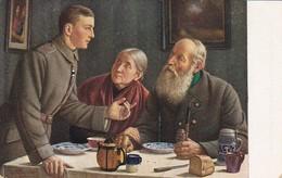 AK Wie Ich Das Eiserne Kreuz Erwarb - Soldat Mit Eltern - Spielter - Patriotika - 1.WK (39586) - Guerre 1914-18