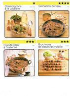 Lot 4 - Fiche Illustree CUISINE Recette Champignons Catalane Foie Veau Italienne Brohette Coeur Grenadins Veau - Recettes De Cuisine