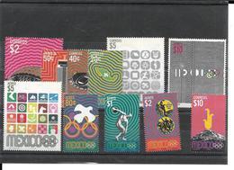 MEXIQUE - JEUX OLYMPIQUES - OLYMPICS GAMES MEXICO 1968 - 749/754 - PA 292/296 - Mexique