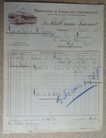 Facture Ancienne - Produits & Engrais - Les Fils D'erasme Simonnot - Cette (sète - 1928 - France