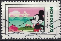France 2018 Oblitéré Used Mickey Et La France Sur Le Pont D'Avignon Y&T 1585 - France