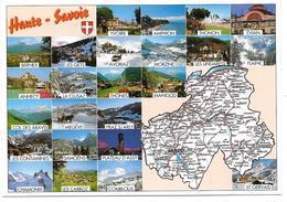 74 - HAUTE SAVOIE - Multivues Avec Carte Géographique Du Département - Ed. SECA N° 74001 Bis - France
