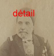 A Voir-Tunisie - Prince Ali III Bey De Tunis - 1817-1902-photo Cartonnée Garrigues à Tunis - War, Military