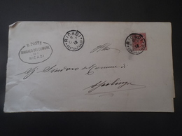 REGNO ITALIA BIGLIETTI CON OVALE DI FRANCHIGIA COMUNALE RICADI REGIE POSTE 1913 - 1900-44 Vittorio Emanuele III