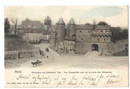 CPA Metz Vue D'ensemble Près De La Porte Des Allemands Nels Couleur 1903 - Metz
