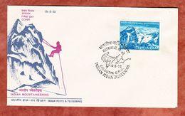 FDC, Jahrestag Bergsteigervereinigung, Calcutta 1973 (69747) - FDC