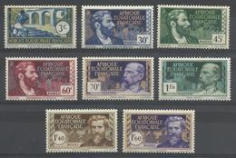AFRIQUE EQUATORIALE FRANCAISE - AEF - A.E.F. - 1939 - YT 77/84** - A.E.F. (1936-1958)