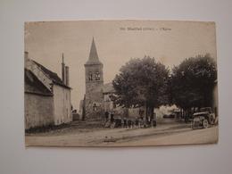 03 Maillet.l'église.groupe D'enfants Vieille Voiture.1916 - Autres Communes