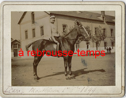 1899-MONTBRISON- Icare (le Cheval?) Un  Cavalier Du 9e Régiment - Krieg, Militär