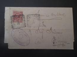 REGNO ITALIA BIGLIETTI CON OVALE DI FRANCHIGIA COMUNALE SANTA UNOFRIO REGIE POSTE 1915 - 1900-44 Victor Emmanuel III