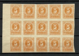 Estland Estonia 1919 Michel 6 As 15-Block MNH Incl Winkles/folds On Some Stamps - Estonia