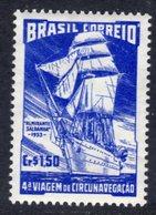 BRAZIL - 1953 TRAINING SHIP CIRCUMNAVIGATION STAMP FINE MINT MM * SG 847 - Brazil