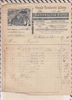 8104 Lettre Facture SONNEVILLE TEINTURERIE LA MADELEINE LEZ LILLE / 1912? - France