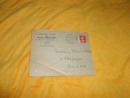ENVELOPPE UNIQUEMENT DE 1913../ ANDRE RENARD VINS EN GROS PARIS POUR ARPAJON + TIMBRE - Marcophilie (Lettres)
