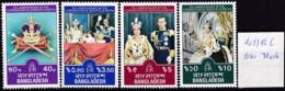 Bangladesch, 1978, 109/12 B Aus Block, 25. Jahrestag Der Krönung Von Königin Elisabeth II. MNH ** - Bangladesch