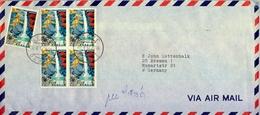 1973 , JAPÓN - JAPAN , SOBRE CIRCULADO , CORREO AÉREO , FRANQUEO MÚLTIPLE , TOKYO - 1926-89 Empereur Hirohito (Ere Showa)