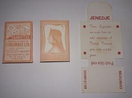 JENEDJE  C.COLOMBOS LTD.CAIRO MALTA  PACKET OF 10 CIGARETTE - 1920s VERY RARE - - Empty Cigarettes Boxes