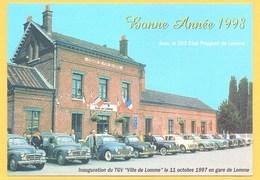 """Carte Postale En Couleur """" Inauguration Du TGV En Gare De Lomme """" à LOMME - Lomme"""