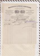 8103 Lettre Facture MAISON DE LA BELLE JARDINIERE BESSAND LILLE PARIS / 1886 - France