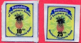 SOUTH SUDAN Südsudan 10 & 25 SSP Revenue / Fiscal Stamps Western Equatoria State Pineapple Timbres Fiscaux Soudan Du Sud - Sudan Del Sud