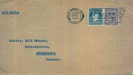 1951 , IRLANDA , SOBRE CIRCULADO  ( DUBLIN ) BAILE ATHA CLIATH - PFORZHEIM - Cartas