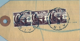 1963 , IRLANDA , ETIQUETA POSTAL DE ENVIO CERTIFICADO , ATHLONE - DUBLIN , MAT. LUAIN , THE NATIONAL BANK LIMITED - 1949-... República Irlandése