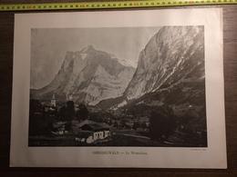 DOCUMENT SUISSE GRINDELWALD WETTERHORN INTERLAKEN - Vieux Papiers