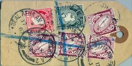 1963 , IRLANDA , ETIQUETA POSTAL DE ENVIO CERTIFICADO , BALLINA - DUBLIN , MAT. BÉAL AN ÁTHA , THE NATIONAL BANK LIMITED - 1949-... República Irlandése