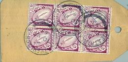 1963 , IRLANDA , ETIQUETA POSTAL DE ENVIO CERTIFICADO , CARLOW - DUBLIN , MAT. CEATHARLACH , THE NATIONAL BANK LIMITED - 1949-... República Irlandése