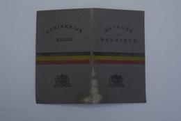 1921 Rijbewijs Permis Conduite Inschrijvingsbewijs Certificat Inscriotion Voiture  Belgie - Documents Historiques