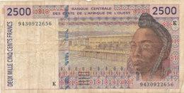 - BILLET DE 2500  FRANCS  BANQUE -CENTRALE  DES ETATS DE L'AFRIQUE DE L'OUEST - Banknotes