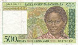- BILLET DE 500  FRANCS  BANQUE - BANKY FOIBEN'I  MADAGASIKARA - Madagascar
