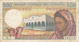 - BILLET DE 500  FRANCS  BANQUE - CENTRALE DES COMORES - Comoros