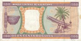 - BILLET DE 200  OUGUIYA   BANQUE - CENTRALE DE MAURITANIE   28-11-1989 - Mauritania