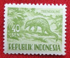 40 Sen Wild Animals | Malayan Kantschil (Mi 178 YT 123) 1956 Indonesie / Indonesien / Indonesia POSTFRIS / MNH ** - Indonesia