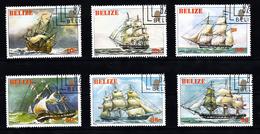 Belize 19682 Mi Nr  625 - 630 Historische Schepen, Ship - Belize (1973-...)